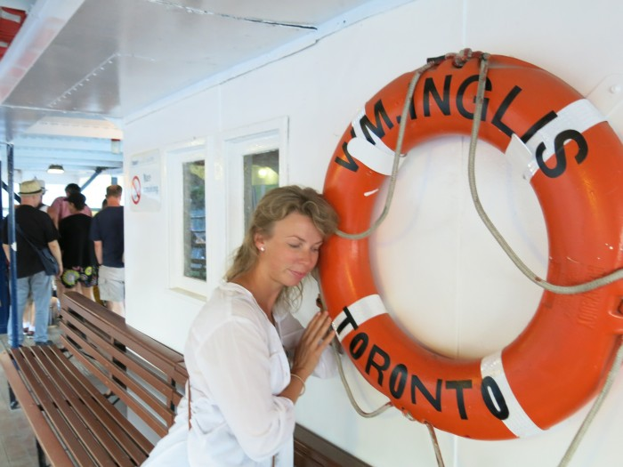 Life ring on a boat in Toronto