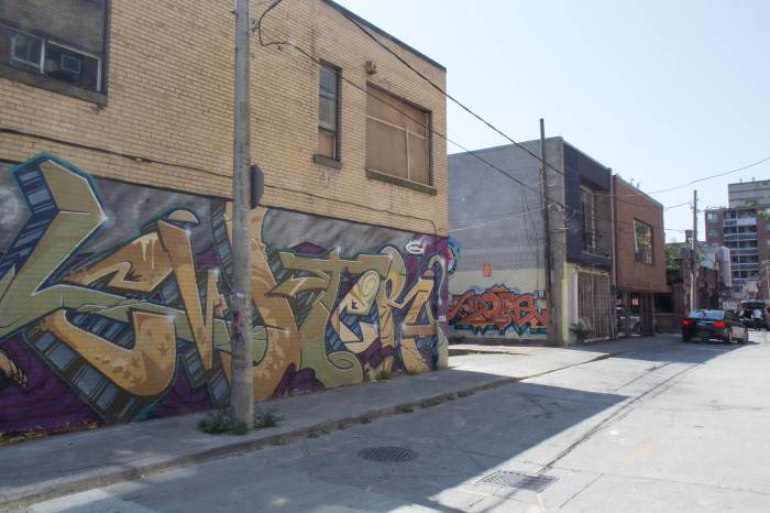 Graffiti in the streets of Toronto