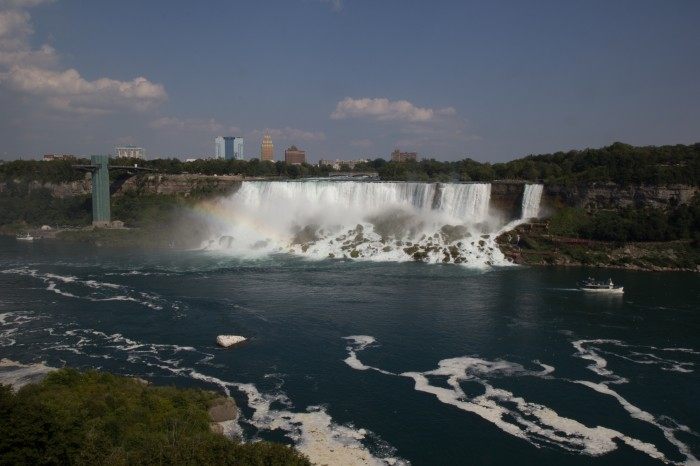 Niagara Falls and a little rainbow as seen from Canada