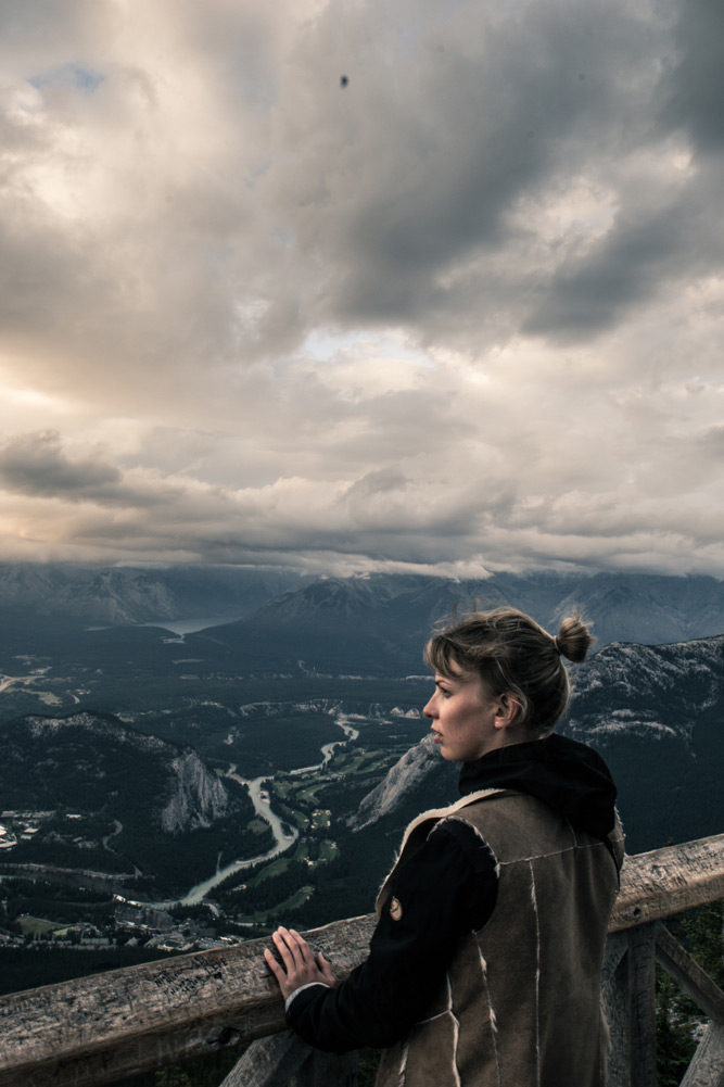 Looking at Banff National Park from above