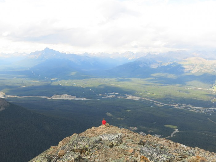 Antti on the top of Fairview Mountain