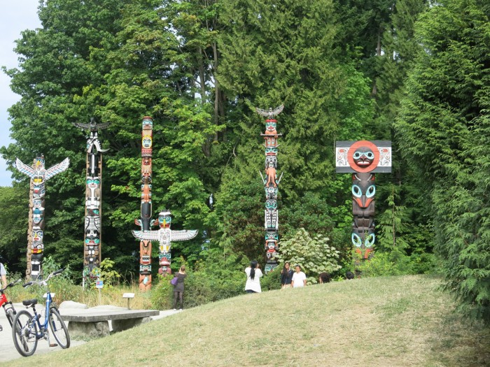 The Totem Poles in Stanley Park