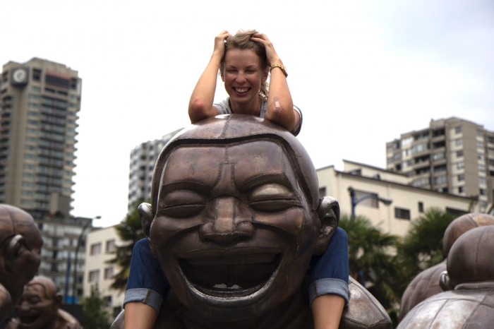 So funny statues to hang with - I even fell down from one's back!!! That's why the plaster