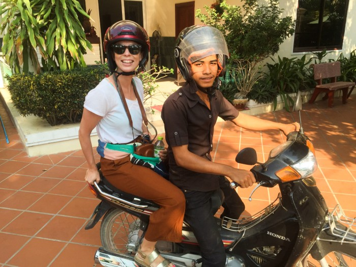 Showing good example - driving WITH helmet