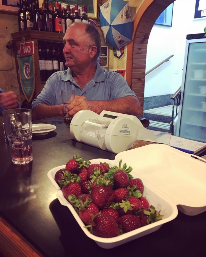 My take away strawberries