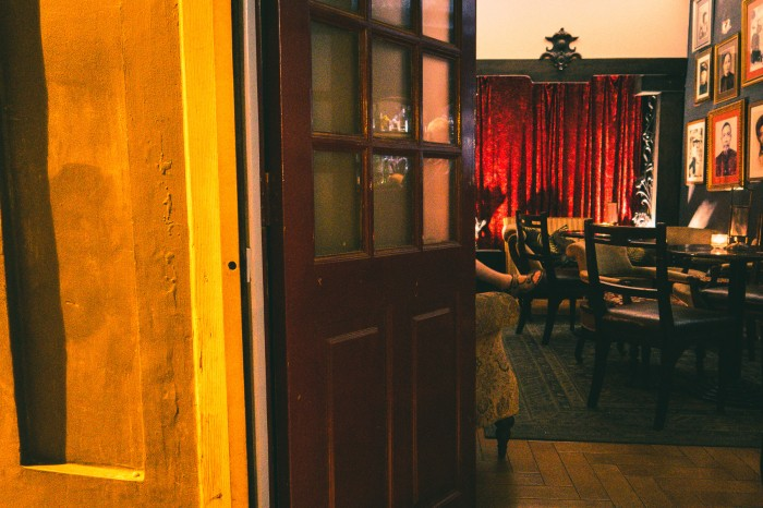 When you step into Cork's Bar it's like you step in another time. The owners Peter and Yang Yang have made the interior themselves. Most of the furnitures are from auctions.