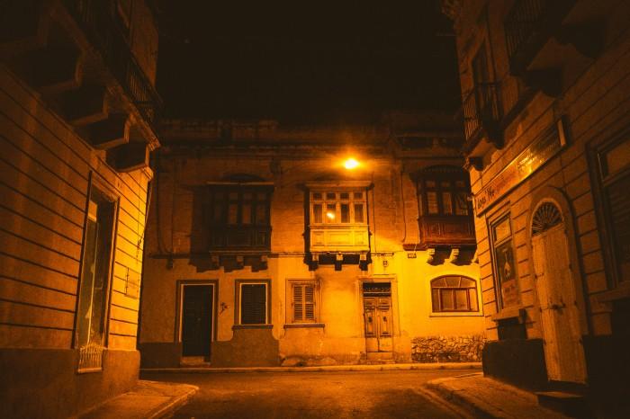 Silent streets of Sliema