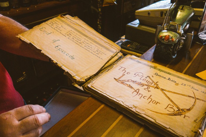 The era of the Plough & Anchor started on 23rd of June 1979 – this is a guest book from the very first days.