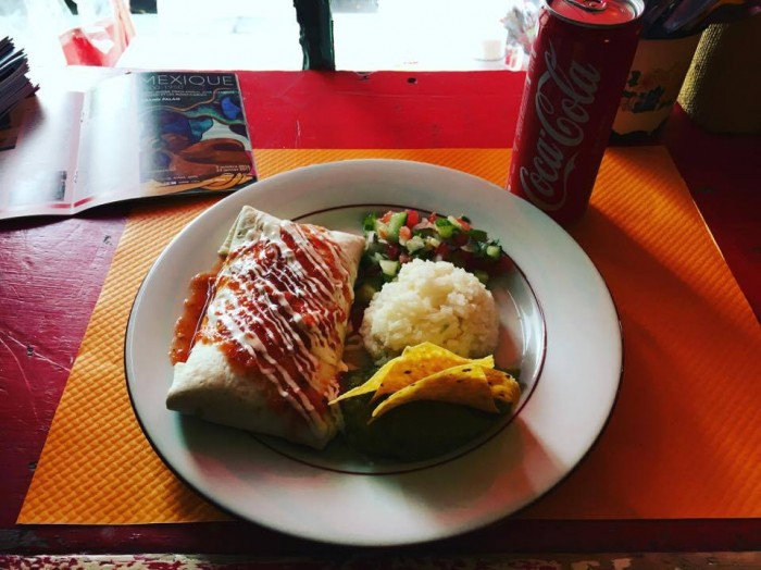 Päädyin ihan vahingossa syömään aika pitkälti koko viikonlopun hyviä ruokia, tämä näin meksikolainen juutalaisessa korttelissa, en kyllä muista nimeä