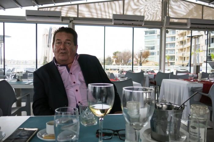 Michael Zammit Tabona at his The Terrace restaurant in Malta