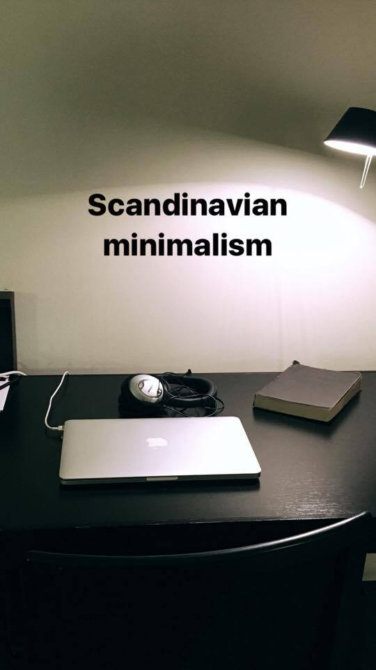 Scandinavian minimalism and a simple desk