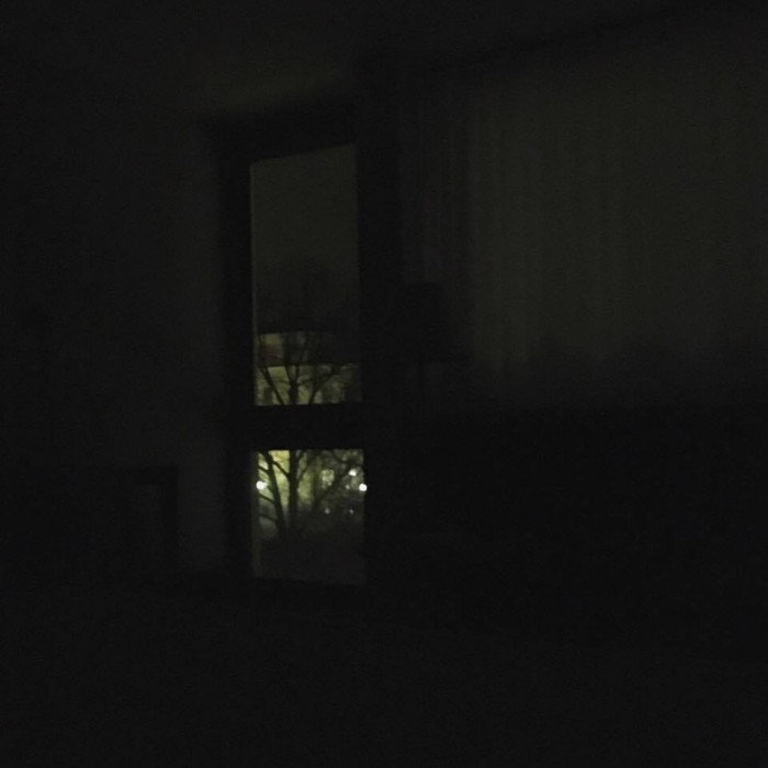 The hotel room at night