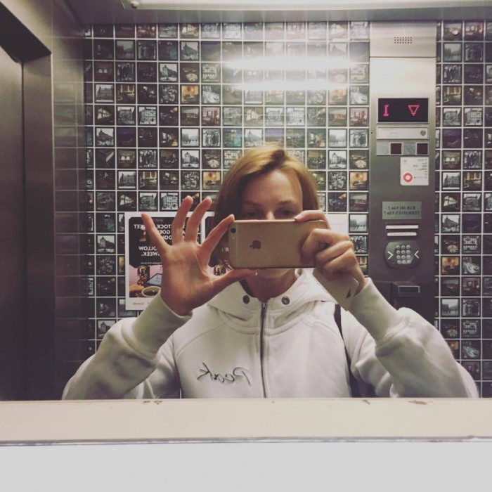 <<Lift selfie in Scandic Anglais Stockholm