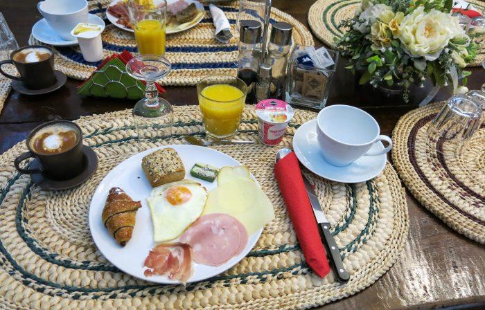 Breakfast at the La Locanda del Pino hotel in Milan